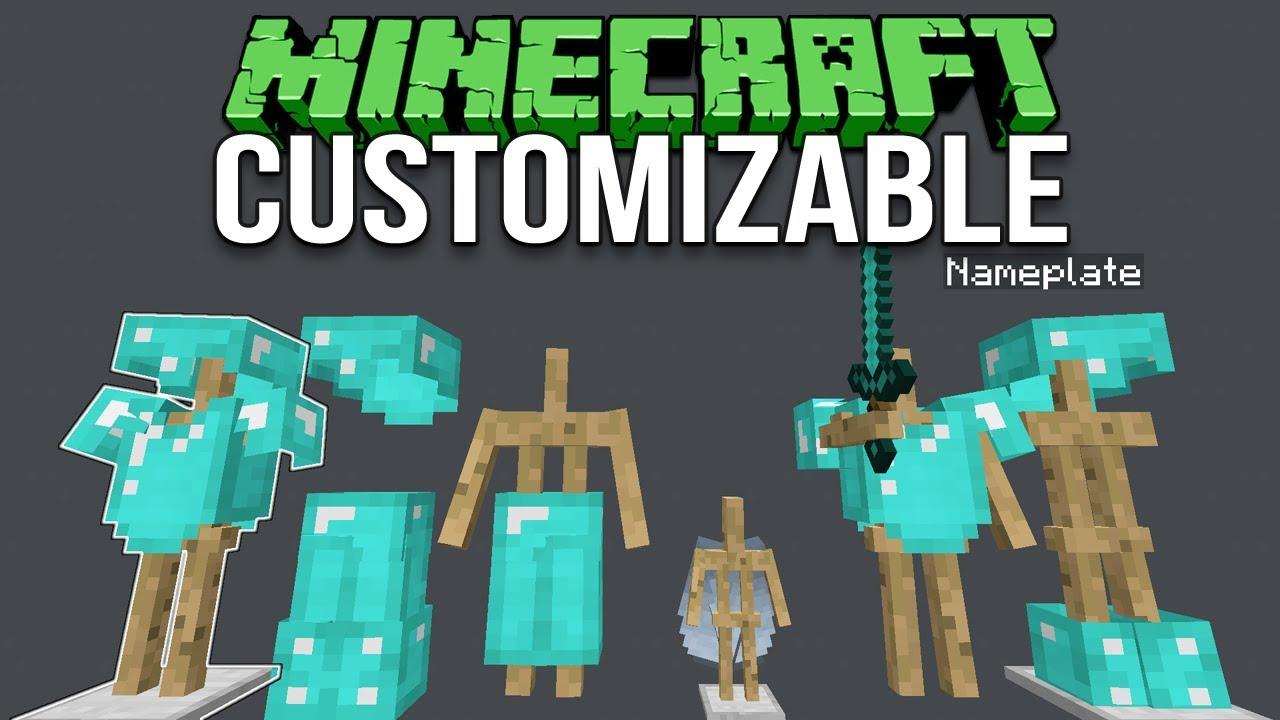 Minecraft 1 12 Customizable Armor Stands Tutorial