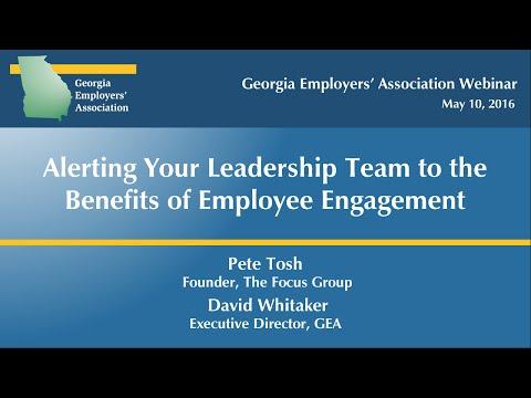 Benefits of Employee Engagement Webinar - May 5, 2016