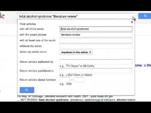 Finding Literature Reviews through Google Scholar