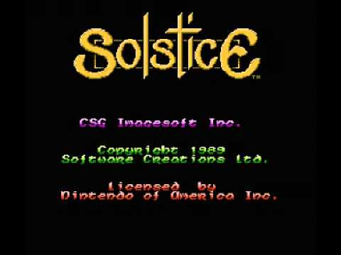 Solstice - The Quest for the Staff of Demnos (NES) Music - Castle