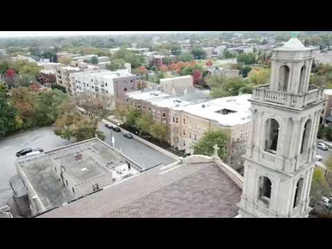 Aerial Footage of Completed Roof at the National Shrine of Christ the King