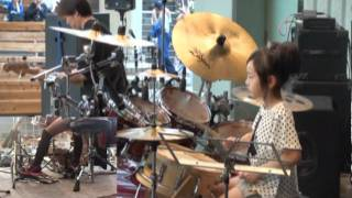 Domino Line / Casiopea(cover) by 8years Drummer Girl