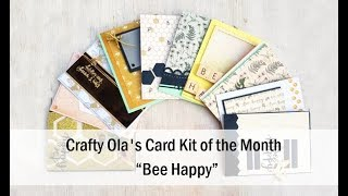 10 Cards 1 kit Crafty Ola 39 s Card kit of the Month January 39 18 39 39 Bee Happy 39 39