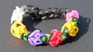 Rainbow Loom Nederlands, Tulip Tower, armband, bracelet
