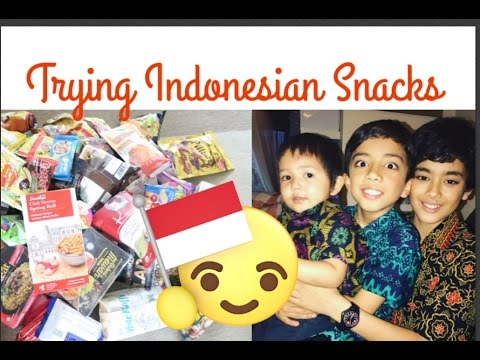 TRYING INDONESIAN SNACKS With My Boys | andini overfield