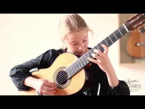 Leonora Spangenberger (11) plays Drei Tentos - I by Hans Werner Henze on a 2004 Curt Claus Voigt
