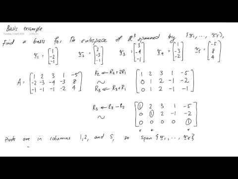 Linear Algebra Video 14 Matrix Null Space Doovi