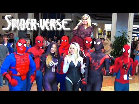 Spider-Man SPIDER-VERSE Wreaks Havoc at TAMPA BAY COMIC CON! Epic Flash Mob Invasion!
