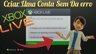 Tutorial - Criar Uma Conta No [Xbox 360] Sem Dar Erro !!!