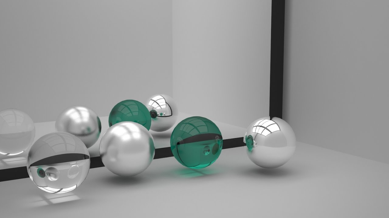 3ds max tutorial how to make chrome mirror glass and for Mirror vray material