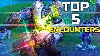 5 Best 1v1 Encounters and BuildFights Against Thanos! Fortnite Thanos Gameplay
