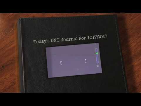ToDay's UFO Journal For 10172017
