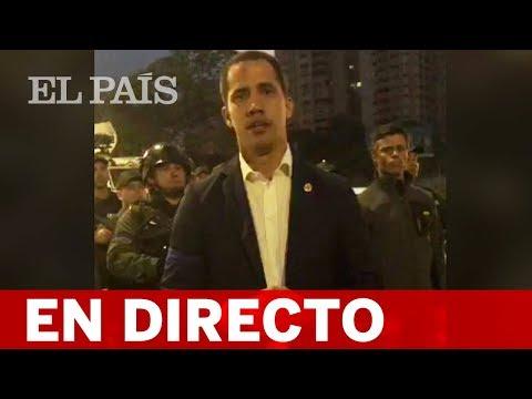DIRECTO VENEZUELA  GUAIDÓ convoca al Ejército tras liberar a LEOPOLDO LÓPEZ