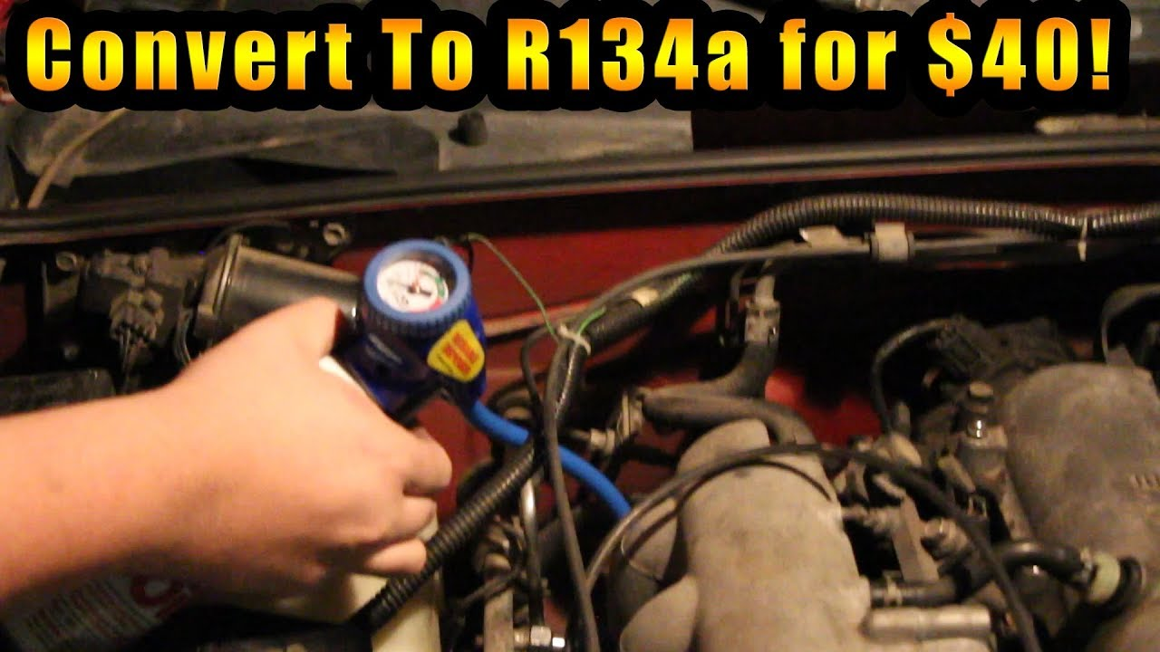 CHEAP R12 to R134a AC Retro Fit (No Evac Needed!)