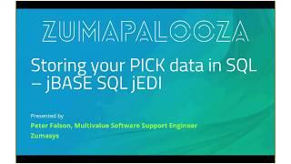 jBASE SQL jEDI