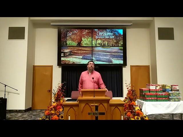 Worship Service 11/15/2020