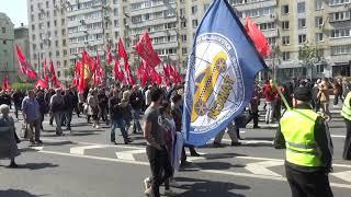 01 мая 2019 г. Москва. Шествие и митинг.  КПРФ. ССО. ДПА.