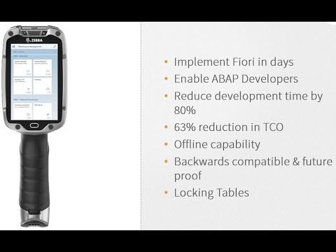 RedLine Zebra and Neptune Software Webinar on implementing SAP mobility with significantly lower TCO
