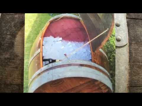 How to turn a wine or whiskey barrel into an ice chest
