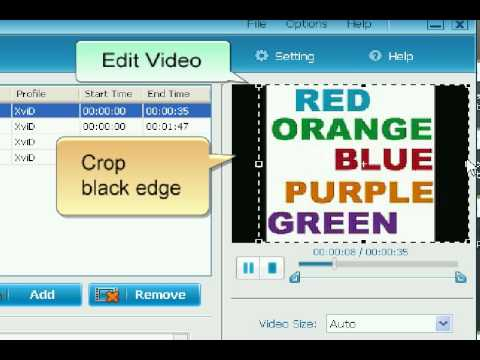 Tutorial about how to convert video format AVI/XviD to MP3/MP4