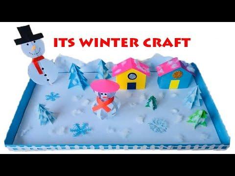 Winter Season 3D Model For School Project Ideas | Winter Season Paper Crafts for School Kids