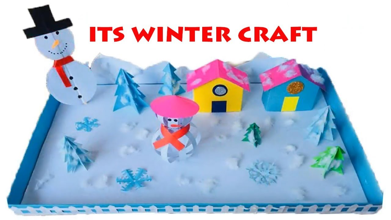 Image result for 3d winter art kids shoe box