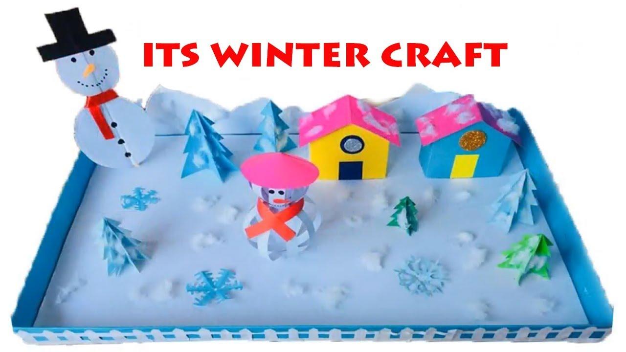 Winter Season 3d Model For School Project Ideas Winter Season Paper Crafts For School Kids