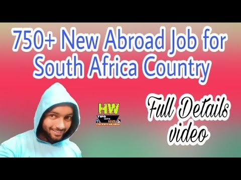 New Abroad Job At South Africa,750+ Jobs Post Salary 600+ Food USD