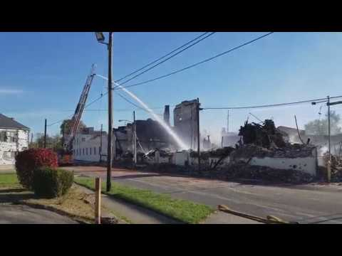 Hewitt Soap Factory Demolition in East Dayton, Ohio. Day 1 (11-10-2017)