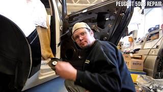 Peugeot 5008 - výměna lemu zadního boku a dveří po nehodě