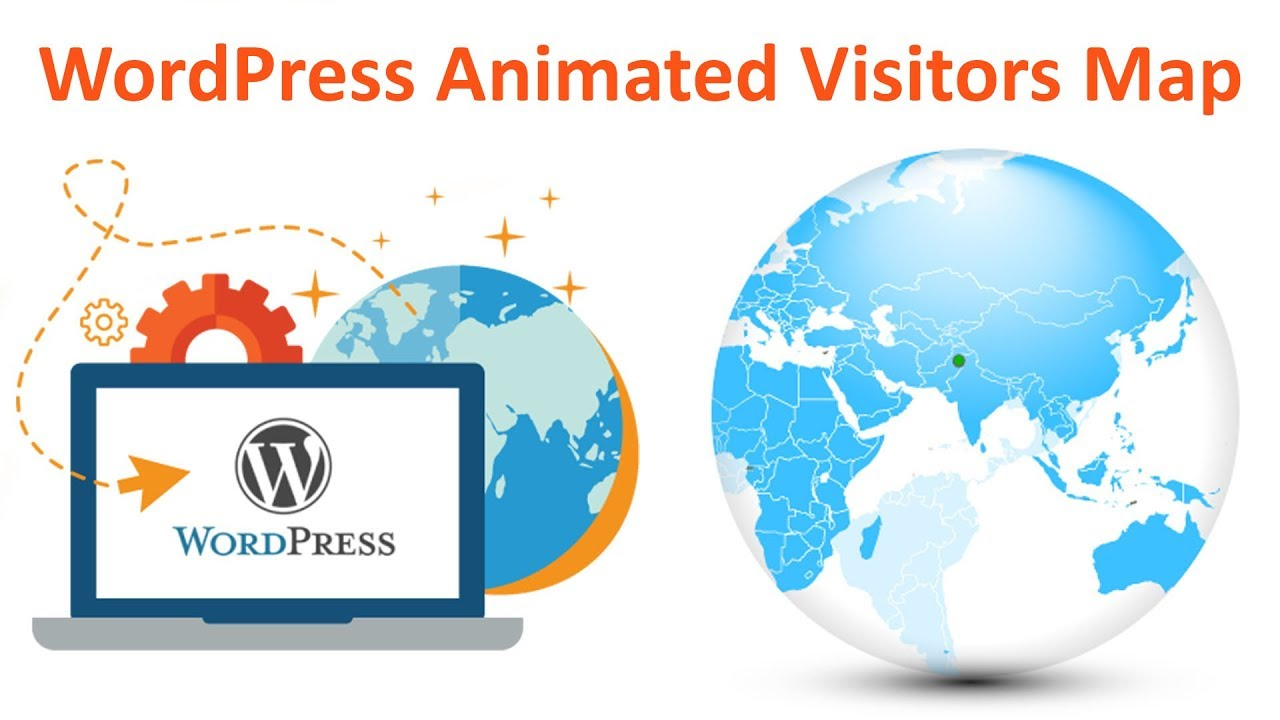 How to add visitors counter on sidebar of wordpress website Advance  Animated Visitors Globe Map