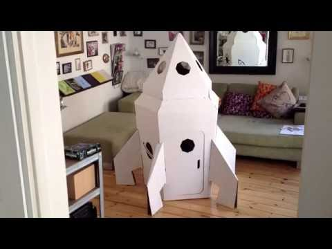 fus e en carton cardboard rocket youtube. Black Bedroom Furniture Sets. Home Design Ideas