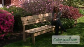 Red Cedar Contoured Backed Bench From Cedarstore.com