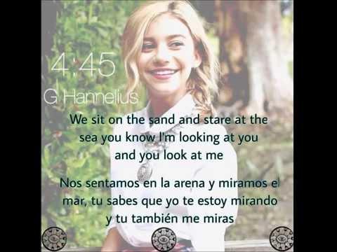 "G Hannelius ""4:45"" lyrics in english/spanish"