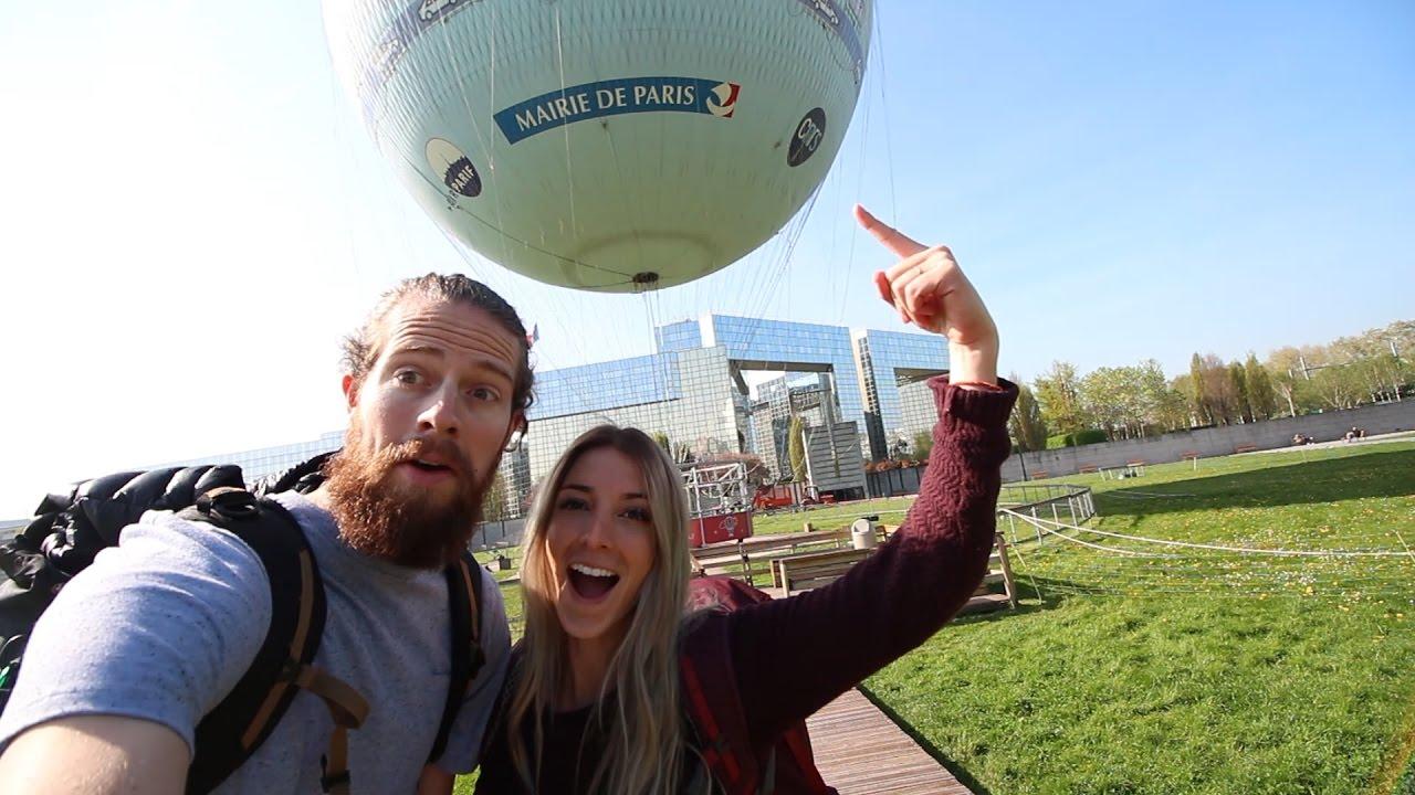 Hot Air Balloon Ride In Paris France! - YouTube