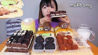 MUKBANG 편의점 케이크 카스테라 크림빵 초코 디저트 먹방 CONVENIENCE STORE CAKE TTEOK CHOCO Dessert asmr コンビニ デザート