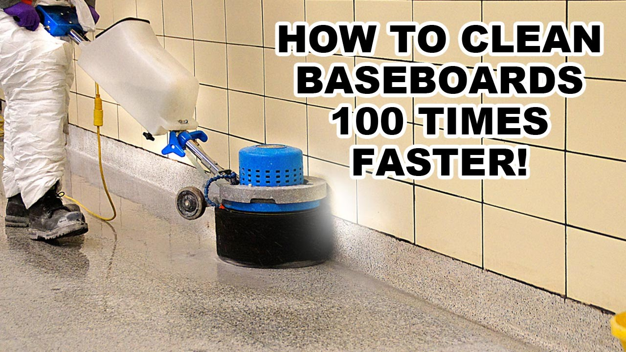 How To Clean Baseboards 100 Times Faster Youtube