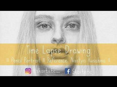drawing-time-lapse-||-pencil-portrait-||-reference:-nastya-kusakina