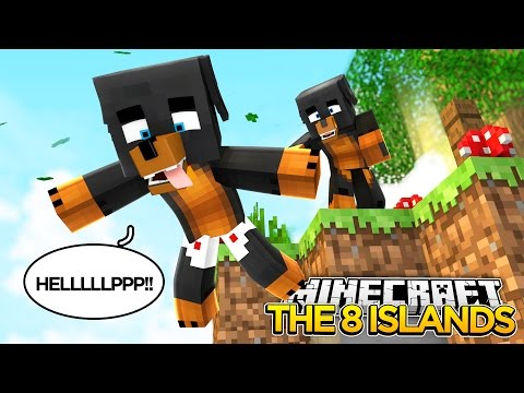 Minecraft 8 ISLANDS -  CUSTOM MAP - DONUT THE ISLAND HOPPER!! - donut the dog