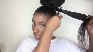 Slay High Ponytail without any Closure of Frontal