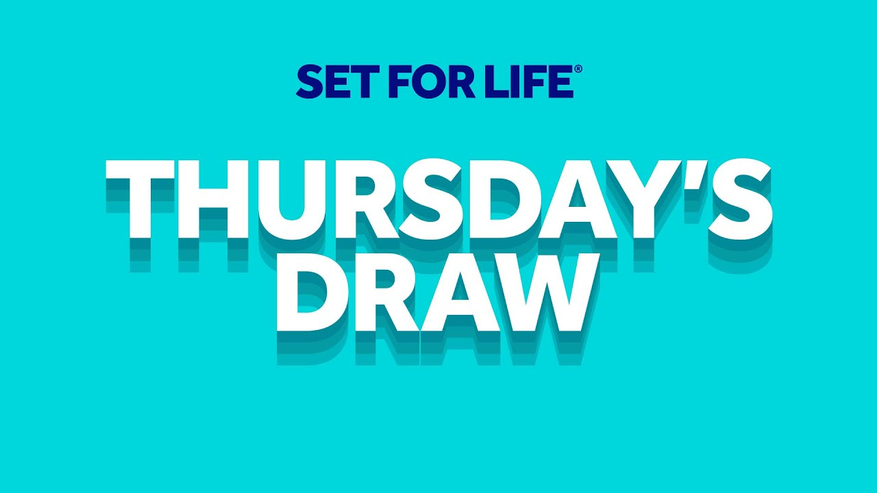 The National Lottery 'Set For Life' draw results from Thursday 13th August 2020