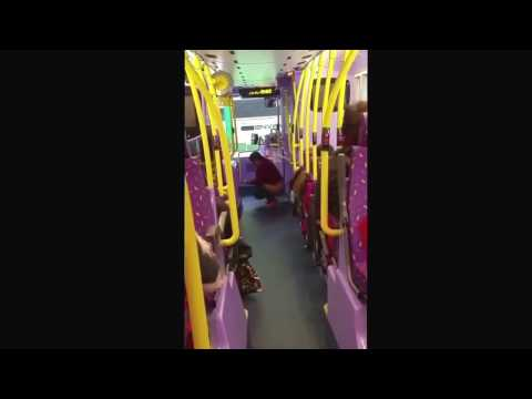 Disgusting person pooping in a bus and then wiping arse