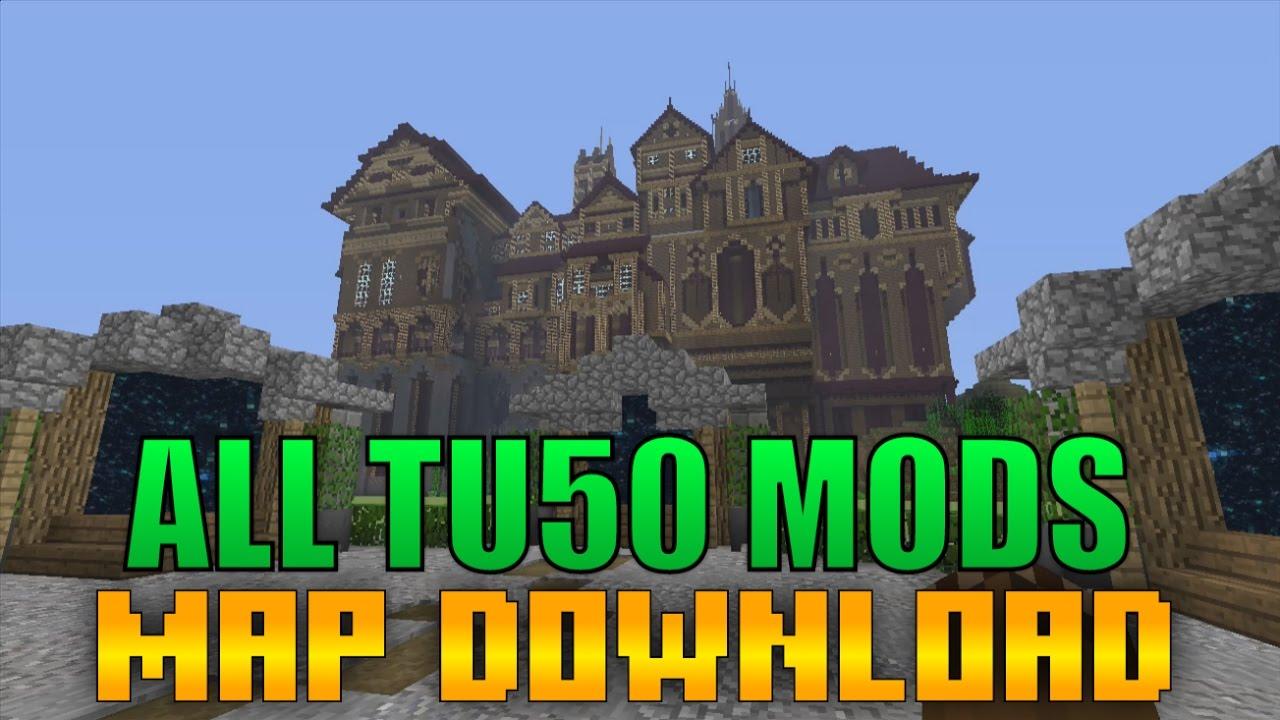 Minecraft Xbox 360/PS3 - ULTIMATE TU50 MODDED MAP SHOWCASE!
