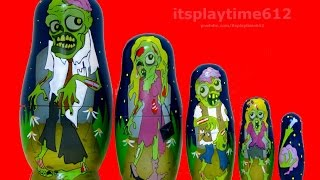 zombie nesting dolls surprise toys review   itsplaytime612