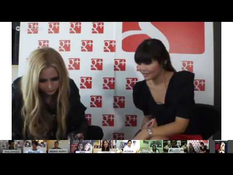 Avril Lavigne - Interview @ Google Hangouts (Hong Kong) 05/08/2013