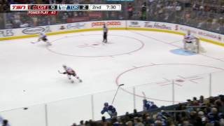 Leo Komarov A Big Hit On Gaudreau | 23.01.2017