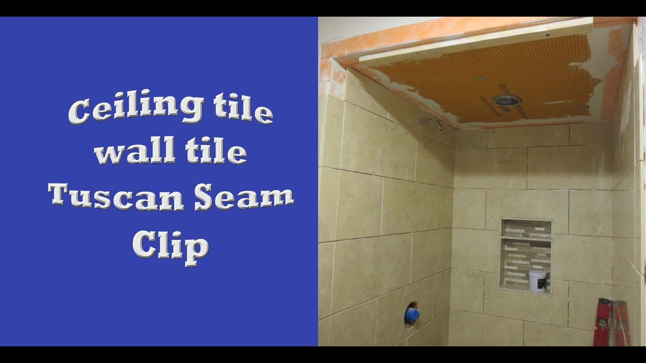 Schluter systems bathroom start to finish, Part 5 ceiling tile ...