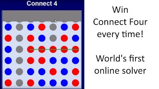 Win At Connect Four Every Time! The World