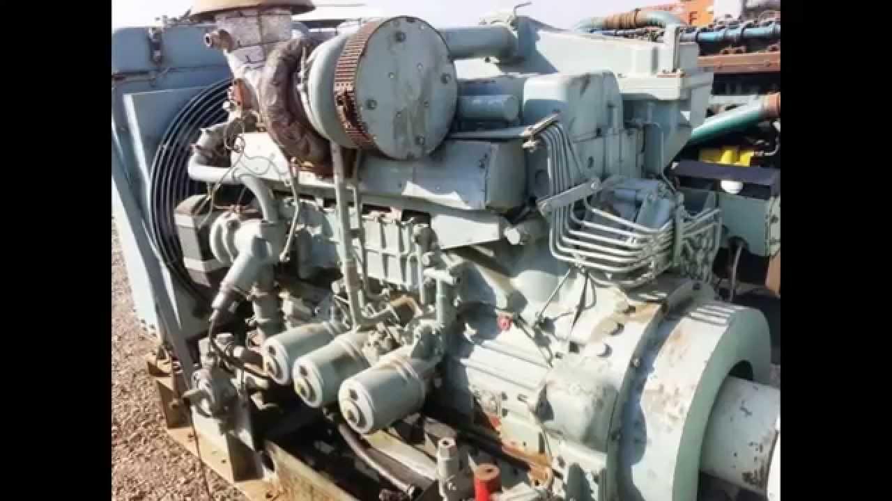 mitsubishi s6b mpta used diesel generator for sale youtube rh youtube com