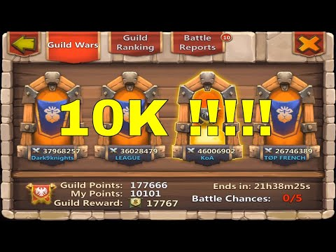 Castle Clash Guild Wars 10000 Points